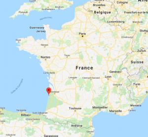 Arcachon sur la carte de France
