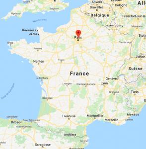Aubervilliers sur la carte de France