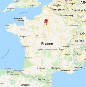 Bagneux sur la carte de France