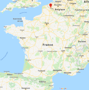 Carte de la France avec Lille