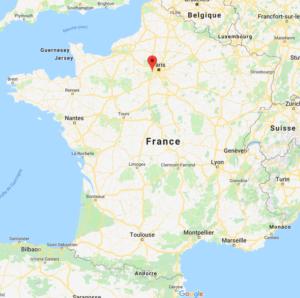 Montigny le Bretonneux sur la carte de France