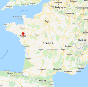Nantes sur la carte de France