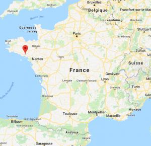 Vannes sur la carte de France