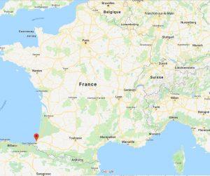 Carte Ville de Bayonne