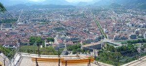 Vue en hauteur de Grenoble avec ses programmes loi Pinel