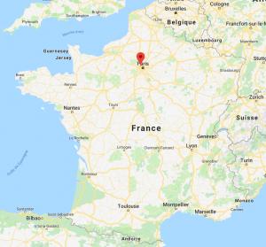 Nanterre sur la carte de France